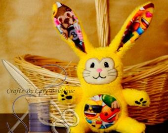 Emoticon Emoji Stuffed Bunny Rabbit