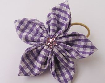 School hair accessories - kanzashi flower - Flower hair clip - fabric flower - girls hair accessories - hair tie - hair bobble - hair bows