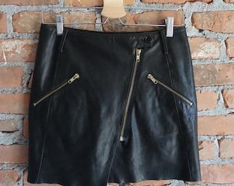 Genuine Leather Mini Skirt - Size Small/Medium