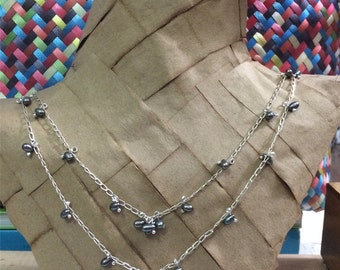 Silver Pearls Necklace