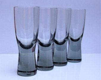PER LUTKEN for HOLMEGAARD Grey  Canada Sherry Glasses x 4 c1950s