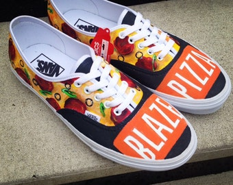 Custom painted Blaze Pizza Vans