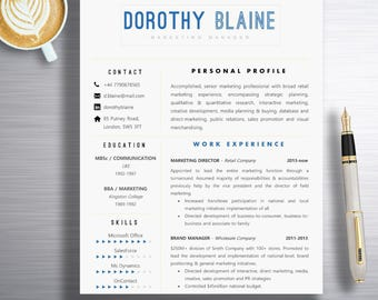 Resume Template | Professional Resume Template | Instant download | Creative resume template | Resume template instant download | Custom