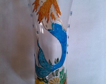 Painted glass appetizer - blue Mermaid