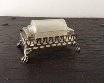 Antique Sterling Postage Stamp Roller / Damper / Office / Desk Top / Silver / Victorian / Roll