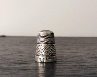 Sterling Silver Thimble / Hallmarked / Sewing