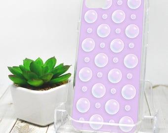 Purple Bubble Polka Dot iPhone 7 Case - Pattern Illustrated Bubbles over Purple - iPhone 7 Plus Case