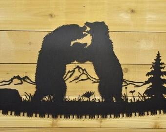 Nature Scene Hand Saw, Buck Saw, Bow Saw Metal Wall Art