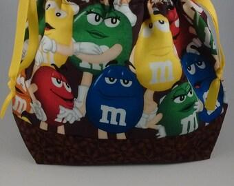 M & M's project bag