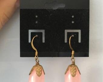 Pink Dangly Earrings