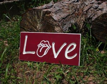"Love -  12""x5.5"" Custom Wooden Sign"