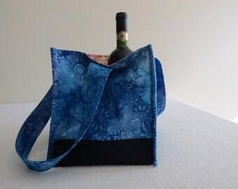 Batik Wine Tote Bag