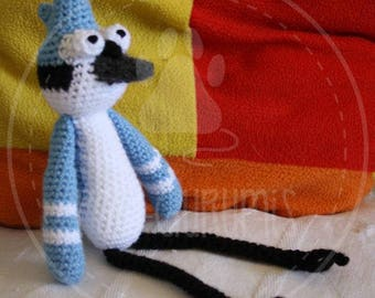 Mordekai - A Regular Show - 25 cm (10 inches) amigurumi