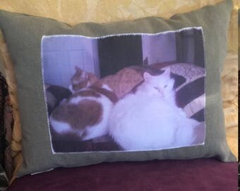 "Adorable Photo Memories Pillow by Oder 15"" by 12"""