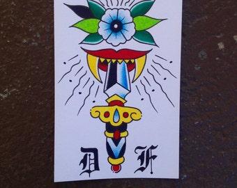 Kiss of Death tattoo art