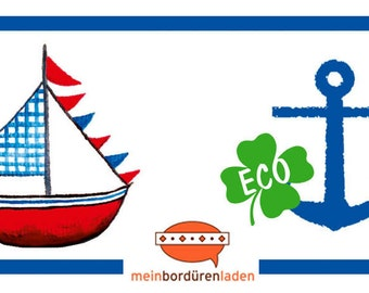 ECO kids trim: sailing ship | Anchor - borders for children, border for allergy sufferers, wall border, nonwoven, wall trims anchor