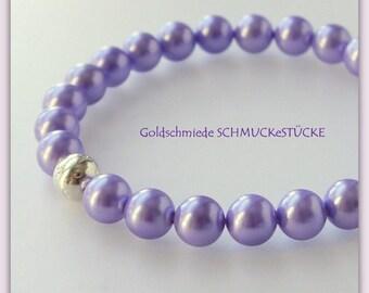 Bracelet - shell pearl - purple
