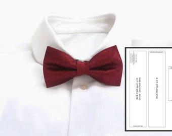 Adult Bowtie Pdf Wedding Bowtie Pdf Classic Bow Tie Pdf Bow Tie Tutorial  Pdf Bowtie Pattern