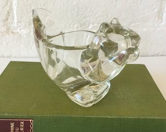 Avon glass tealight votive holder Squirrel Collectibles Vintage glass Ring holder Vintage Avon