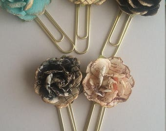 Vintage Rose Paperclip / Bookmark(s) - Set of 2 or 3