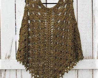 Crochet boho poncho, crochet poncho, summer wear