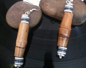 Bamboo Earrings Made By Hand