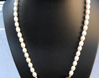 Pearl & Copper Necklace