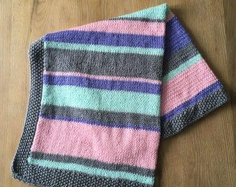 Pink Multi-Striped Baby Blanket