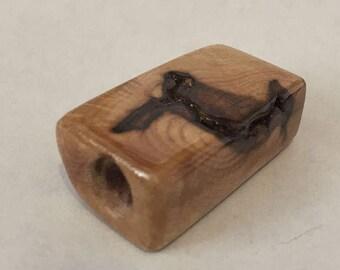 Birdseye Maple Wood Toke stone handmade #23