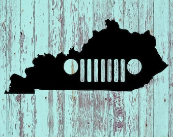 Jeep Grill Kentucky Decal/Kentucky/Jeep Grill Decals/KY