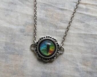 rainbow dragon eye necklace