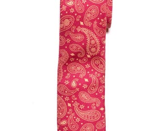 Red Paisley Cotton Tie