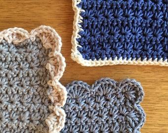 Gorgeous handmade dishcloths, made from 100% organic cotton.