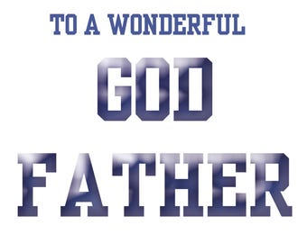 God Father Fathers Day Card