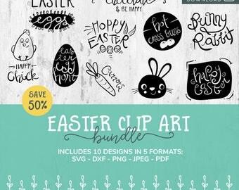 Easter SVG Bundle, SVG Font Bundle, Cricut Easter File, Easter SVG Cut File, Easter svg Design, Svg Files for Easter, Svg Font, Clip Art Svg