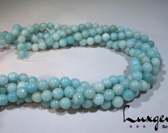 Blue Amazonite round beads 6mm/8mm/10mm/12mm natural gemstone manufacture offers