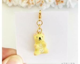 Yellow koala keychain
