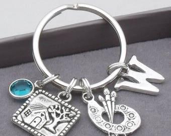 Artist monogram keyring | artist keychain | personalised artist keyring | artist accessory | gift for artist | art graduate