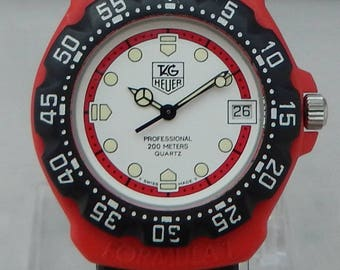 TAG Heuer (F1) Formula One 35mm MINTY Red/Black 1980's Watch