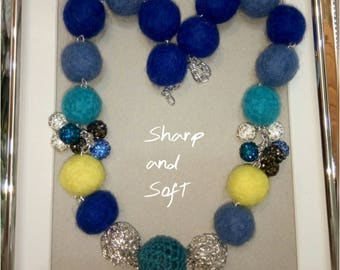 Exclusive Felted - wool necklace.
