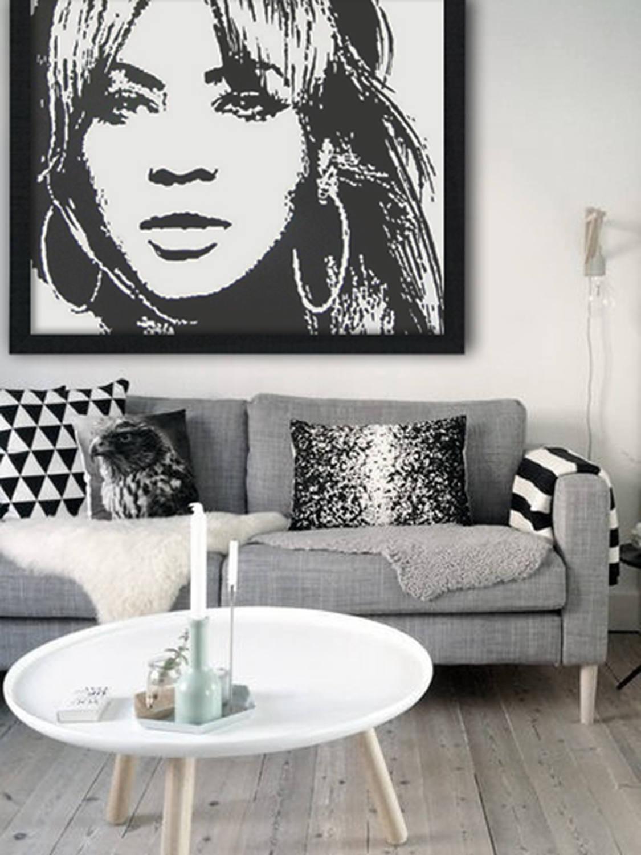 Kunst aan de muur 39 acryl schilderij portret - Deco schilderij slaapkamer kind ...