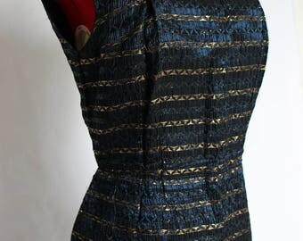 Stunning late 1950's Wiggle Dress