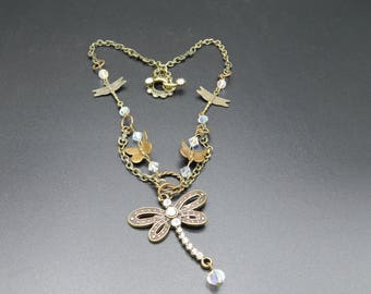 dragonfly butterfly necklace
