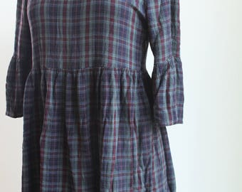 90's plaid babydoll dress xs-s
