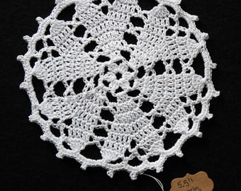 Hand Crocheted Doily - 5.5 inches - Hearts Desire Design