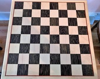 """Chess Board with Padauk Inlay 18x18"""""""