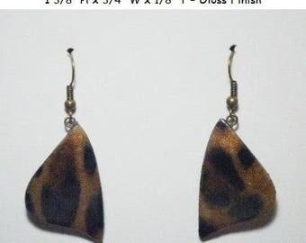 Brown & Black Animal Print Earrings