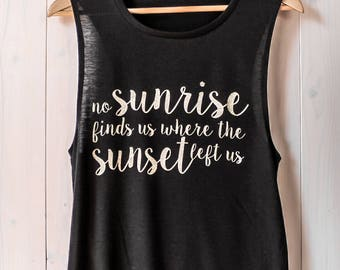 sunrise muscle tank