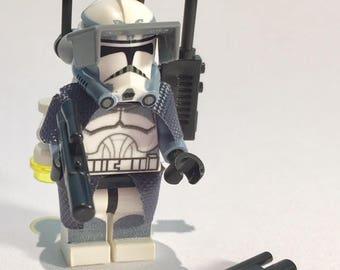 Custom-made LEGO Star Wars Minifigure Wolfpack Clone Trooper SINKER + Accessories