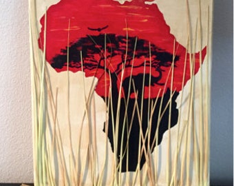 African Savanna Canvas
